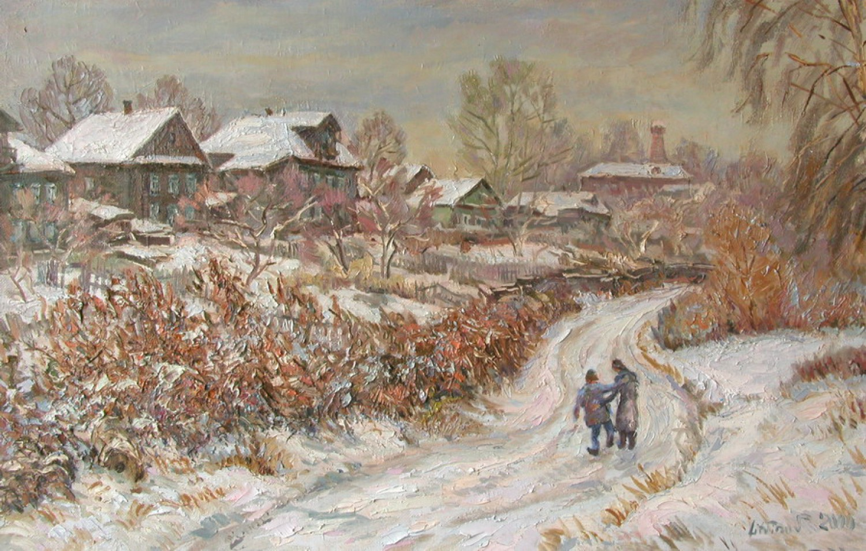 В.Литвинов. Друзья. Х.м., 2000