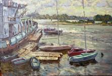 В.Литвинов. Яхт-клуб. Х.,м., 50х80, 2003