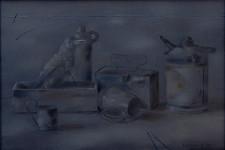 Б.Б.Лейфер. Забытый натюрморт. 1997.  Холст, масло. 55х80,5 см.