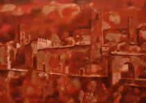 Б.Б.Лейфер. Исчезающий город. Воспоминание об Италии. 2006.  Холст, масло. 91,4х132,1.
