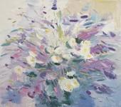 Д.Г.Новиков. Летние цветы. 2012. 65х72 см., холст, масло.