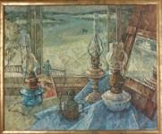 М.А.Кабанов. Лампы и окно. 2008. Х.м.. 70х85.