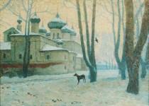 Лобачев Ю.В. Пасмурный день. 2004 г. Х.,м., 45х60.
