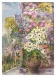 Н.П. Мильто. Полевые цветы. 2018. Бумага, акварель. 30х49 см.