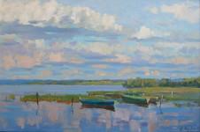 А.Е. Морев. Лодки на озере. 2012. Холст, масло.