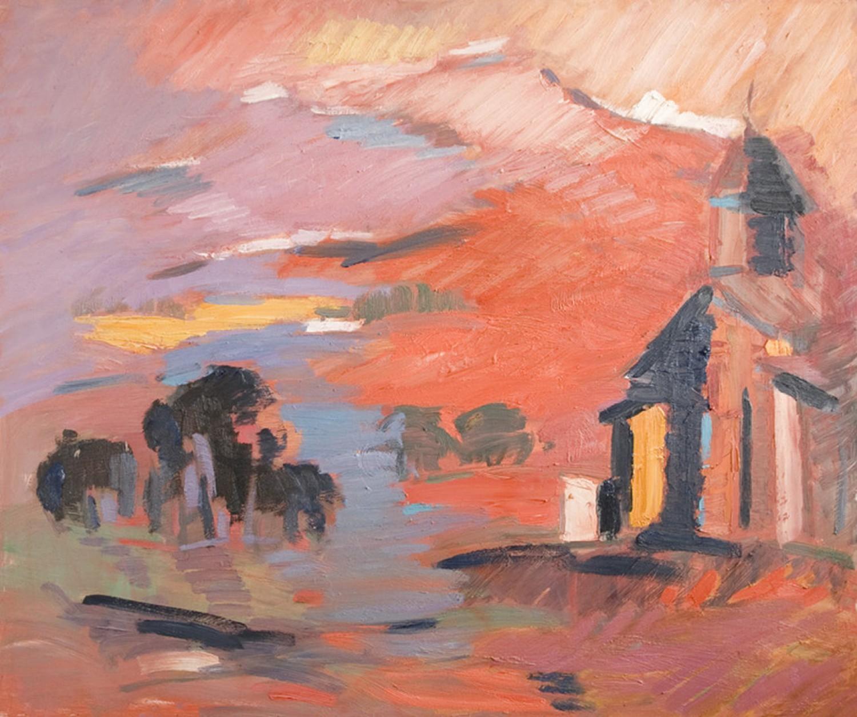 Д.Г.Новиков. Мотив Армении. 2012. 95х115 см., холст, масло.
