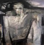 А.Л.Аранышев. Мужской портрет. 2014 г. 80х80 см. Холст, акрил, масло.
