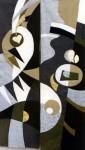 В.Максимова. Музыкальные ритмы (полиптих) 1. 130х50 см., текстильный коллаж.