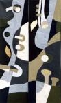 В.Максимова. Музыкальные ритмы (полиптих) 2. 130х50 см., текстильный коллаж