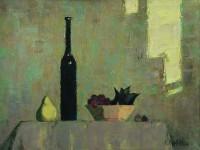 А.Н.Жевакин. Натюрморт с тёмной бутылкой. 2012. 60х80 см. Холст, масло.