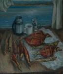 В.М.Зарослов. Натюрморт. После Слюдянки. 2011 г. Холст, масло. 80х70 см..