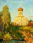 В.С.Золотавин. Никольский храм в Наро-Фоминске. 70х55 см., холст, масло.