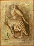 Н.А.Мухин. Адам и Ева. Холст, темпера, масло. 40 х 30. 1996.