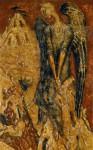 Н.А.Мухин. Город на песке. Холст, темпера, масло.170 х 110. 1991 г.