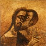 Н.А.Мухин. Поцелуй Иуды. Холст, темпера, масло. 116х114. 1995 г.