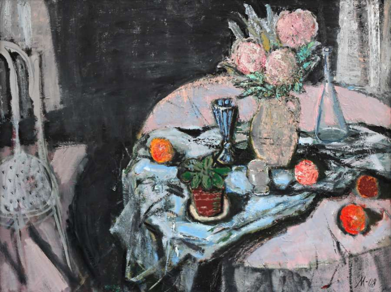 Л.А.Малафеевский. Ночь. 2007-2008. Холст, масло. 98х131.