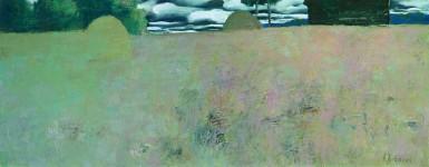 А.Н.Жевакин. Осень в Карелии. 2007. 50х130 см. Холст, масло.