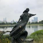 В КНР установлена скульптура «Волга» работы Елены Пасхиной