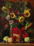 Е.Н.Пивень. Красивые краски осени. 2012. Холст, масло. 60х45 см.