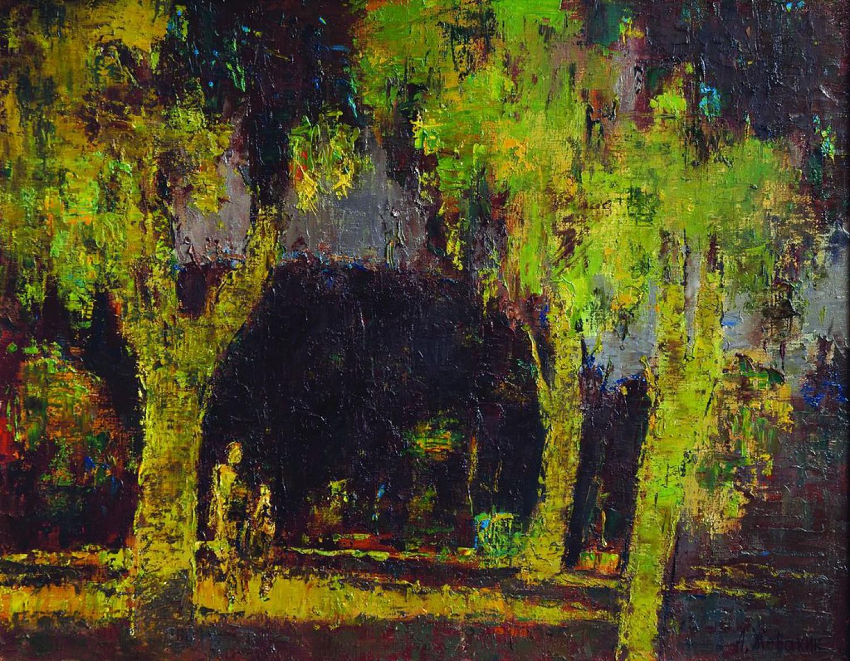А.Н.Жевакин. Под сенью. 2009. 70х90 см. Холст, масло.