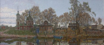 А.В.Ульянов. Покрова на реке Трубеж. холст, масло.