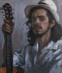 А.В.Городничев. Портрет музыканта. 2015. Двп, масло. 80х68 см.