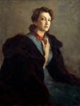 В.С.Золотавин. Портрет жены. 95х75 см., холст, масло.