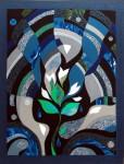 В.Максимова. Пробуждение. 90х70 см., текстильный коллаж.
