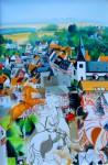 Ф.И.Куницын. Прогулка друзей по Идштайну. 2013. 40х60 см. картон, холст, масло.