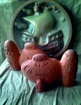 Е.В.Смирнов. Голландия. Тарелка 40 см, рыбки 21х28 см. керамика, 4 цветные эмали