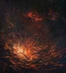 Н.Д.Болотцева. Раздувающий огонь. Холст, масло. 100х90 см. 2009 г.