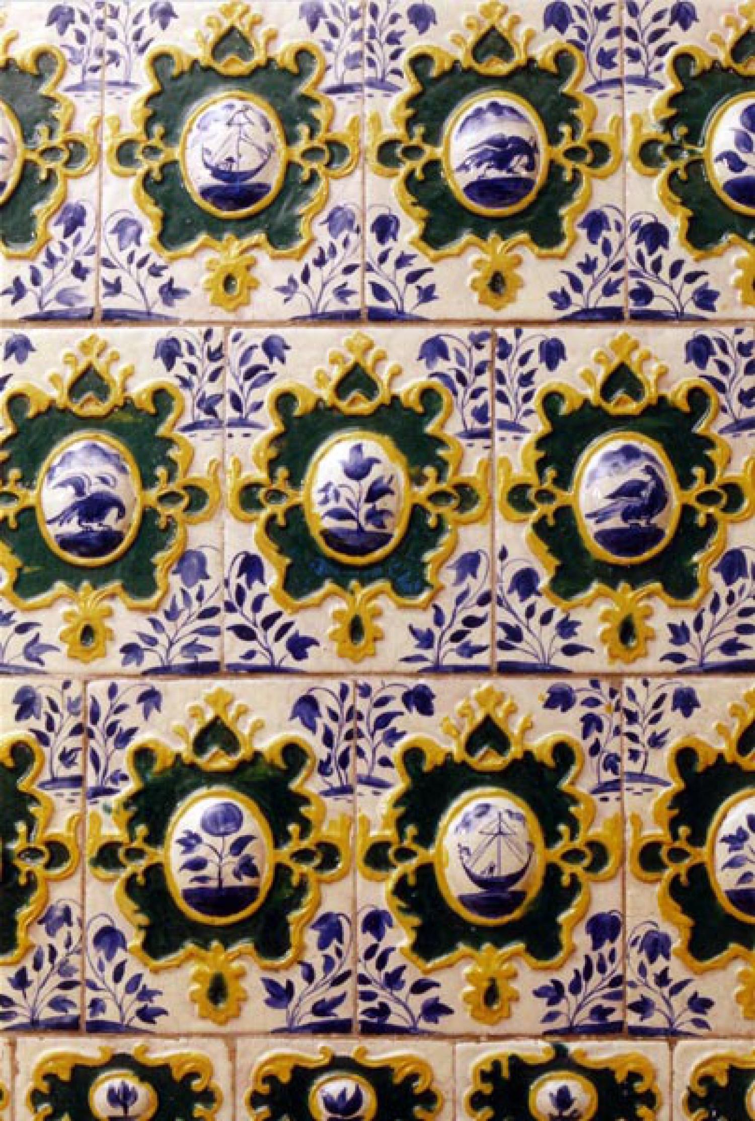 А.Н.Рыбин. Изразцы печи нач. XVIII в. Ярославский музей-заповедник. 1981-1983 гг.