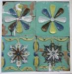 А.Н.Рыбин. Изразцы оригинальные (слева) и воссозданные