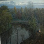 К.В.Золотайкин. Река Сара. 2006. 100х90 см. холст, масло.