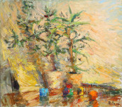 И.В. Смирнов. Натюрморт с «денежным деревом». 2017. Холст, масло. 60х70.