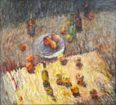И.В. Смирнов. Натюрморт с яблоками. 2019. Холст, масло. 70х80.