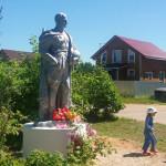 В посёлке Яснищи установлен памятник советскому солдату