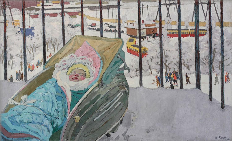В.А.Ульянов. Санькины сны. 1962. 92х126 см холст, масло.