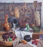 В.М.Барсуков (Середа). Бабуринская керамика. 2017, холст, масло, 120х120.