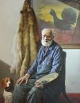В.М.Барсуков (Середа). Портрет художника О.П. Отрошко. 2014, холст, масло, 150 х 120.