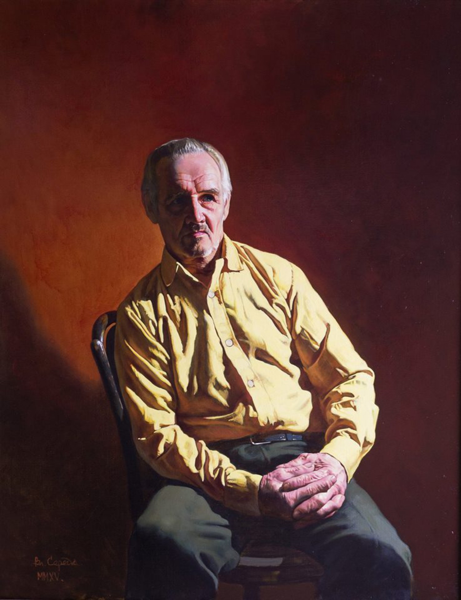 В.М.Барсуков (Середа). Портрет А.В. Зотикова. 2014, холст, масло, 110х80.