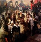 В.С.Золотавин. Штыки революции. 250х250 см. холст, масло.