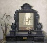 А.В.Ульянов. Старое зеркало. 1994. 75х84 см. картон, масло.