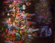 Н.Д.Болотцева. Старый Новый год. Холст, масло. 100х120 см. 2015 г.