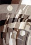 В.Максимова. Триптих Русское Поле 1. 60х45 см., текстильный коллаж.