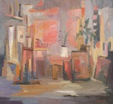 Д.Г.Новиков. В мастерской. 2008. 100х110 см., холст, масло.