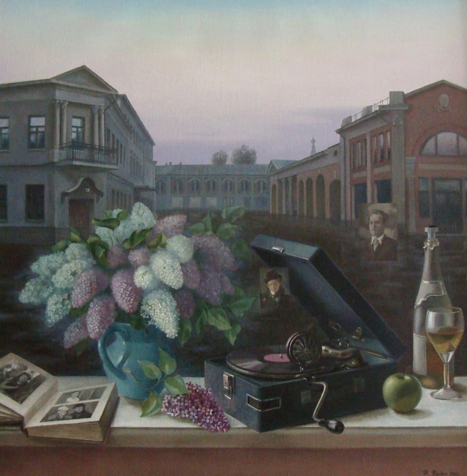 Ф.Ф. Вдовин. Мелодия воспоминаний. 2005 г. Холст, масло. 90х95 см.