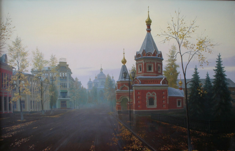 Ф.Ф. Вдовин. Часовня Александра Невского. 2004 г. Холст, масло. 100х70 см.