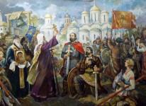 В.С.Золотавин. За Веру и Отечество. Ярославль 1612. 220х300 см., холст, масло.