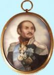А.Е. Зайцев. Портрет генерала М.И. Платова. Финифть, 1984 г.